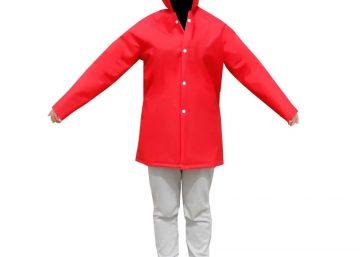 abrigo impermeable termo sellado reforzado pvc para ninos