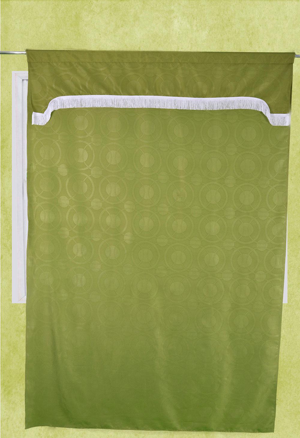 cortina tela troquelada con cenefa