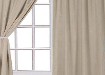 cortina tela troquelada set 2uds con cenefa