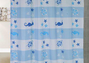 cortinas bano de tela nylon 1
