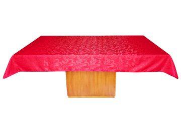 mantel tela troquelada rectangular 6 puestos